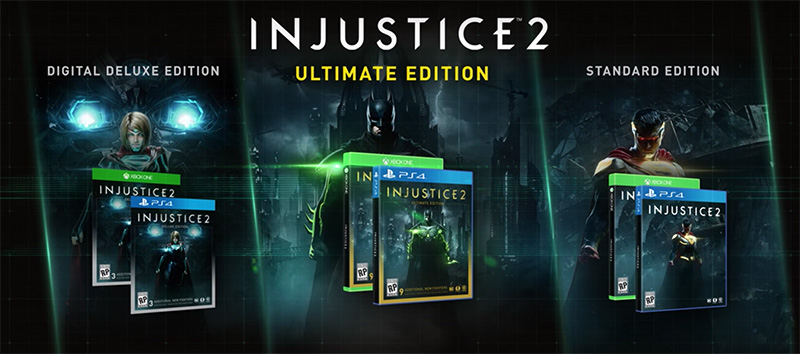 injustice 2 versions jeu