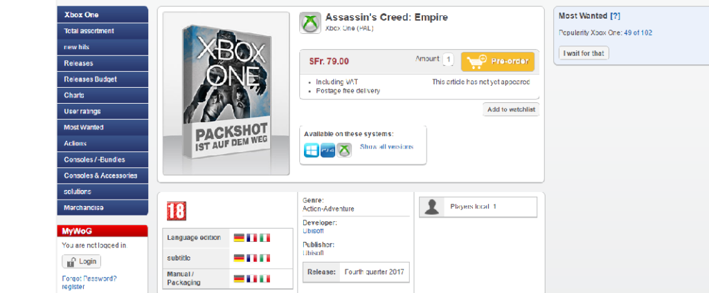 Assassin's Creed Empire fuite