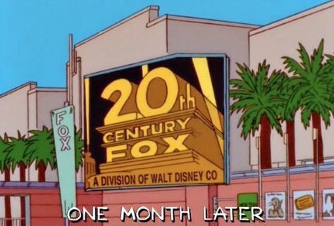 disney 20st century fox simpsons
