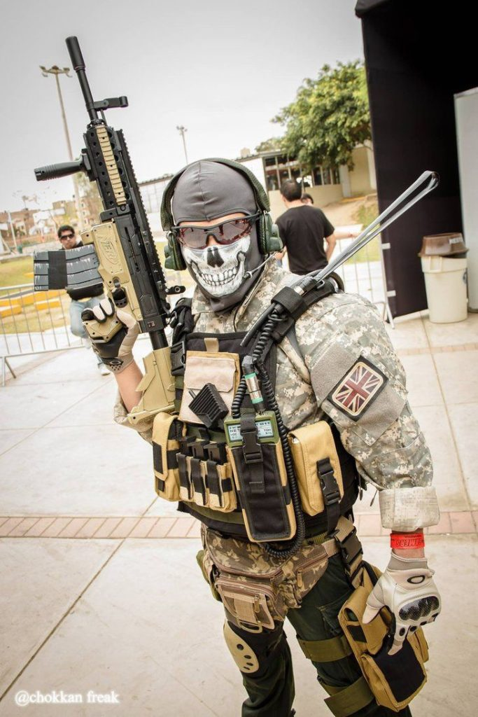 jeux video heros masqués - Call of duty Ghost - GHOST RILEY - cosplay